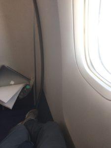 機内で窓側席に移動