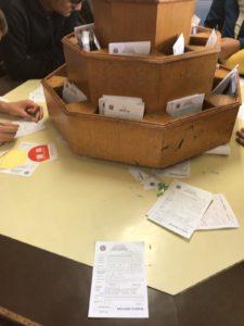 カトマンズ空港の入国カード記載エリア