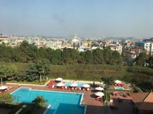 ホテルからのカトマンズ眺望