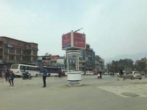 カトマンズの街中の交差点