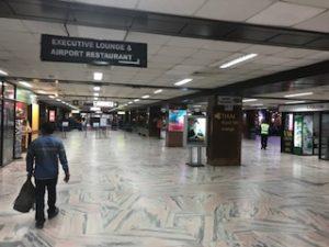 カトマンズ空港の手荷物検査エリア