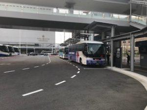 新幹線の広島駅のリムジンバス乗り場