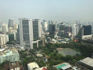 ホテルからのバンコク市内の眺め