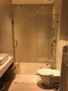 バンコクラウンジのシャワールーム