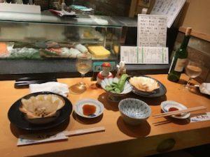 寿司屋で最後の晩餐
