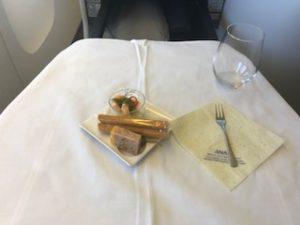 機内食のアミューズ