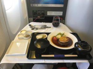 機内食フィレステーキ