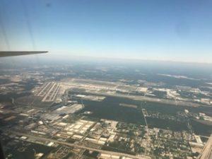 ヒューストン空港上空