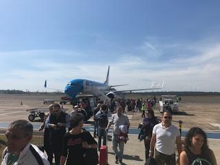 イグアス空港で降機直後