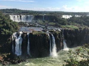 ブラジル側からのイグアスの滝