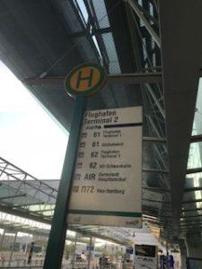 ダルムシュタット行きのバス乗り場