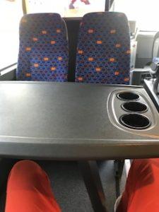 ゆったりバス車内