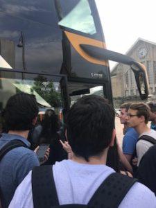 ダルムシュタット中央駅でバスに乗る時