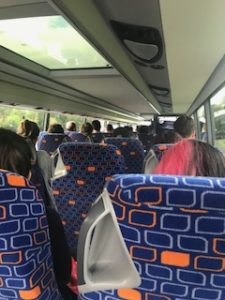 エアポートバス車内