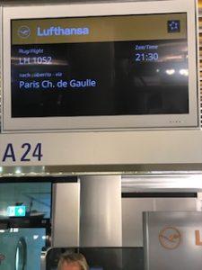 ルフトハンザでフランクフルト→パリ線