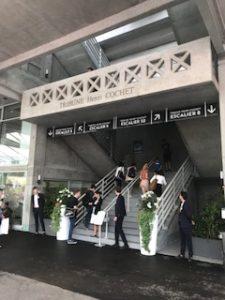 ローラン・ギャロスのセンターコート入口