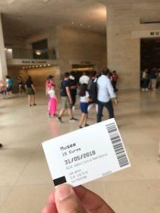 ルーブル美術館の入場券