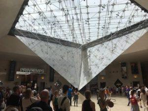ルーブル美術館出口のガラスの天井