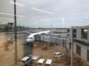 フランクフルト空港に到着