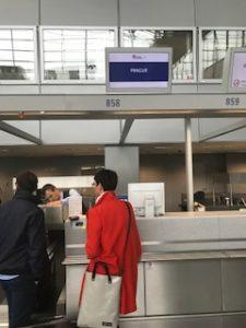 フランクフルト空港のチェコ航空チェックインカウンター