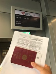 チェコ航空搭乗時にFun IDを提出