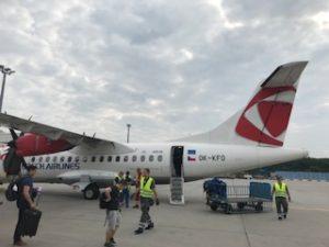 チェコ航空のプロペラ機