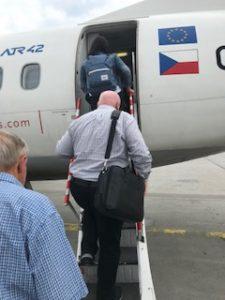 チェコ航空に搭乗