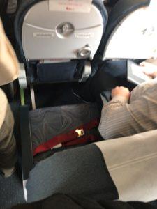 チェコ航空の機内の座席
