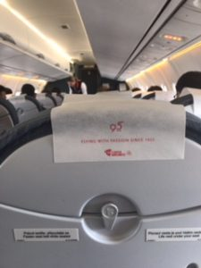 チェコ航空機内