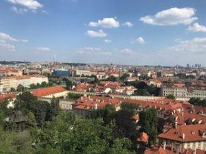 プラハ城からの景観
