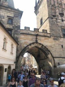 プラハの橋のゲート