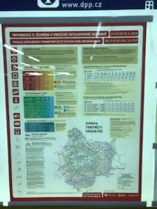 プラハの地下鉄料金案内