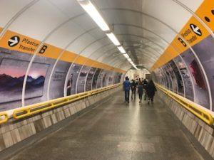 プラハの地下鉄乗り換え