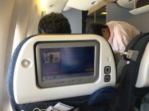ANAのNH223便の機内