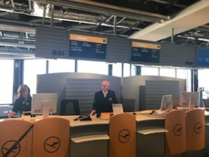 フランクフルト空港の搭乗口