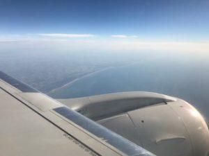 ドーバー海峡を渡る