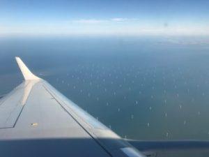 風力発電の風車が綺麗