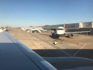 ロンドンシティ空港に到着