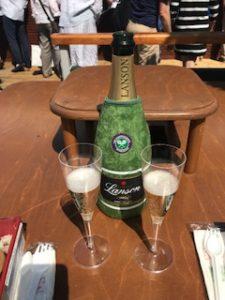 ウインブルドンのシャンパンで乾杯!