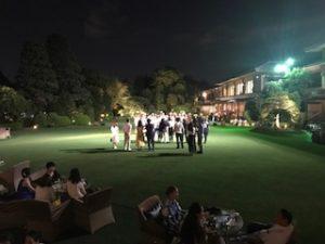 明治記念館の夜の庭園