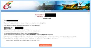 インドのeVISA申請サイト2
