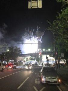 横浜スタジアムの夜