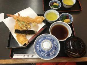 尾張屋の天ぷら定食