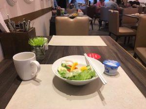 ハイアットプレイスの朝食