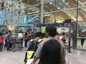 デリーの空港入口