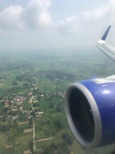 バラナシ着陸前の上空から