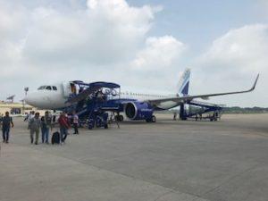 インディゴ航空の機体