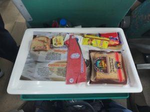 ジャンクなインドの電車内での食事