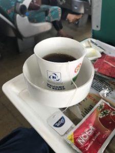 鉄道内の紅茶