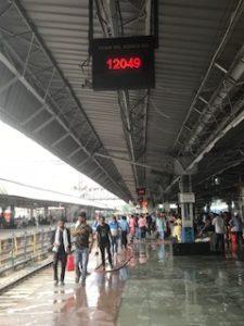 列車番号を電光掲示板に表示